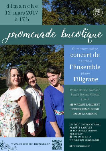 Concert Ensemble Filigrane 12 mars 2017